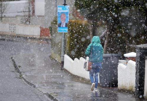 As a cold spell hits Northern Ireland snow falls on Moneyrea in Co. Down. Picture by Jonathan Porter/PressEye