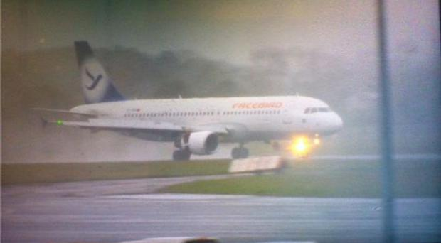The plane arrived on Thursday morning from Turkey. Pic: BBC