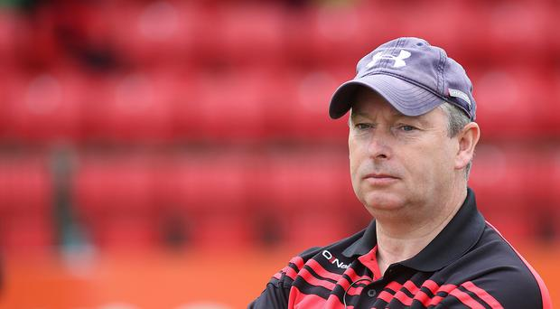Hitting out: Down boss Mickey Johnston has criticised the GAA for letting 'weaker' counties use players based elsewhere