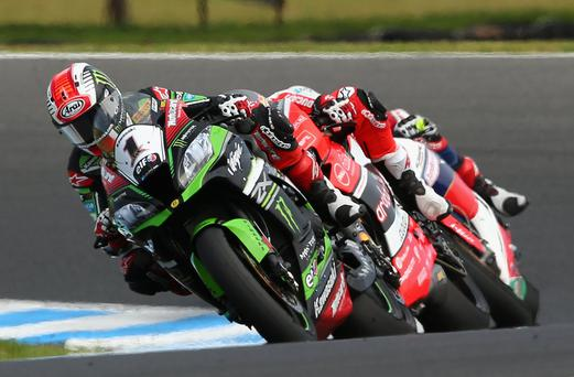 Out in front: World champion Jonathan Rea has already reached 181 points in the opening four rounds of his title defence