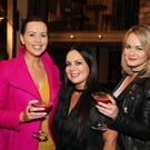 Photo by Kelvin Boyes / Press Eye Rebecca McKinney, Brenda Shankey and Victoria Brown pictured celebrating the re-opening of The Northern Whig at the launch party held on Thursday 28th April.