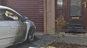 Damaged Caused after an arson attack in the Coolnasilla Park West area of west Belfast. Photo Colm Lenaghan/Pacemaker