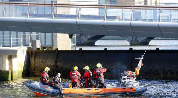 Pictured is emergency services at the scene of an incident at Donegall Quay ( Photo by Kevin Scott / Belfast Telegraph )