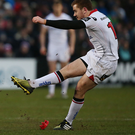 Getting his kicks: Paddy Jackson has been relishing his new role of having more leadership responsibilities within the Ulster set-up