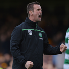Firmly focused: Ronny Deila is hoping Celtic can all but clinch their fifth consecutive league title with success over Hearts at Tynecastle