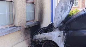 A family have escaped after an arson attack in the Summerhill Brae area of Banbridge in the early hours of Saturday morning. Pic Arthur Allison/Pacemaker