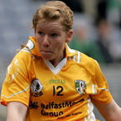 Brave effort: Mairead Cooper was to the fore for Antrim