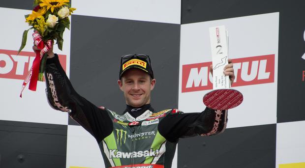Still looking up: Jonathan Rea overcame electronic problems to record two second-place finishes in Italy and minimise his number of lost points