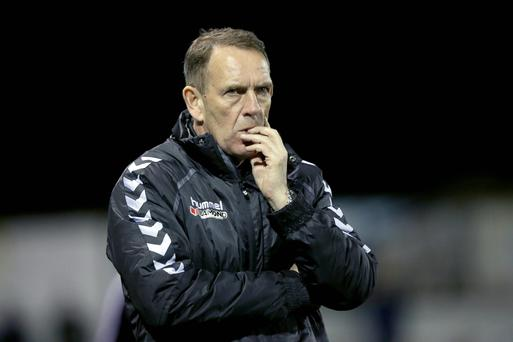 SSE Airtricity League Premier Division, Oriel Park, Louth 1/4/2016 Dundalk vs Derry City Derry City manager Kenny Shiels Mandatory Credit ©INPHO/Morgan Treacy