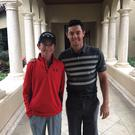Rory McIlroy with Tom McKibbon