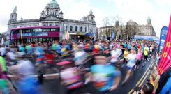 The 2016 Deep RiverRock Belfast City Marathon. Pic Presseye.