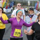 Press Eye - Belfast - Northern Ireland 2nd May 2015 - Picture by Andrew Paton / Press Eye. 2016 Deep RiverRock Belfast City Marathon Deep RiverRock Belfast City Marathon, Northern Ireland. Denise Campell takes part in the fun run.