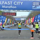 "PACEMAKER BELFAST 02/05/2016 Kenya's Joel Kipsang Kositany  who won this year's marathon said he ""feels very happy. This is his third victory over the Belfast course which he says he loves. Photo Colm Lenaghan/Pacemaker"