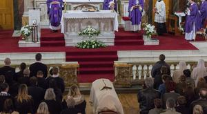The funeral of Sister Clare Theresa Crockett at St Columbas Church, Long Tower in Derry. The 33 years old nun from the Mother Order died in who died in Playa Prieta when a school collapsed when Ecuador suffered from an earthquake on the 16th of April. Picture Martin McKeown. Inpresspics.com. 02.05.16