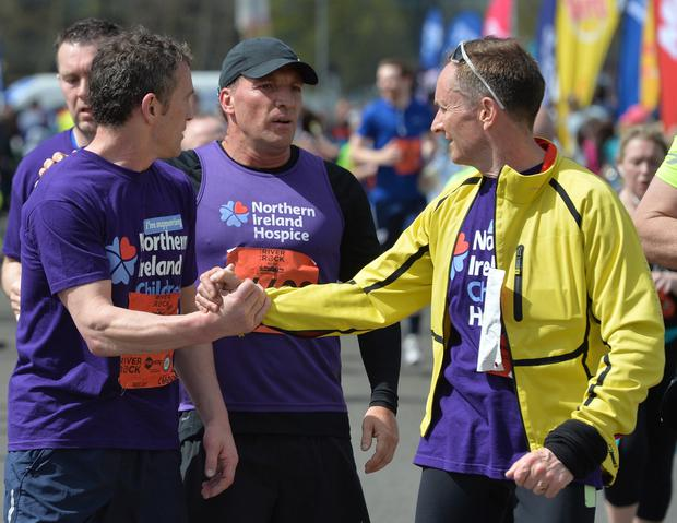 Former Liverpool manager Brendan Rodgers takes part in the Deep RiverRock Belfast City Marathon 2016 (for the Northern Ireland Hospice, on Bank Holiday Monday. Photo Colm Lenaghan/Pacemaker)