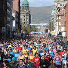 2 May 2016 - Picture by Darren Kidd / Press Eye. 2016 Deep RiverRock Belfast City Marathon.