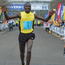 Out in front: Kenya's Joel Kipsang crosses the Belfast Marathon finish line at Ormeau Park in a time of 2.17.39