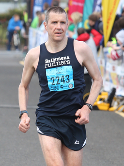 Home run: Ballymena's Ben Morrow was top Ulster finisher in 11th plac