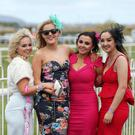 May Day Race meet at Down Royal Racecourse, Maze. Sinead Slane, Ciara Hegarty, Shauna Rafferty and Aoife Anderson pictured at the May Day Race Meeting. Presseye