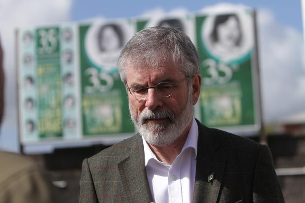 Gerry Adams at Connolly House, Andersonstown Road Belfast. Picture Colm O'Reilly Presseye