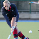Up and away: Harlequins captain Claire Weir relishes a crack at the IHL
