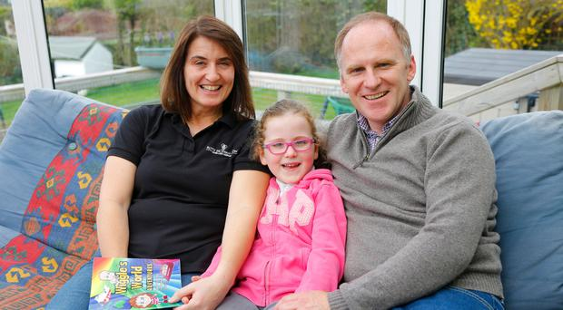 Family jewel: Ruth and Steve McEwan-Lyon with daughter Sophie