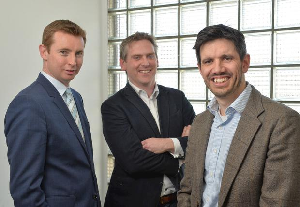 From left: John Dolan, managing director, Cardinal Capital Group; Paul McElvaney, CEO, Learning Pool; Jonathan Cosgrave, managing director, The Carlyle Groupture
