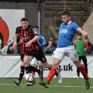 On the ball: Stephen Lowry has been in top form for Linfield since his return from injury and is gunning for Irish Cup glory on Saturday against Glenavon