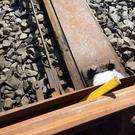 Saboteurs could have derailed a train after a metal bar was discovered wedged in a heritage railway line, it has been claimed