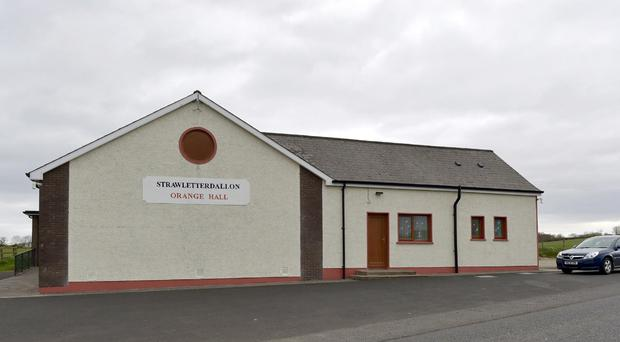 PACEMAKER BELFAST 04/05/2016 An Orange Hall in west Tyrone has been attacked for the third time in less than three months. A number of windows were smashed at Strawletterdallon Orange hall, near Newtownstewart.