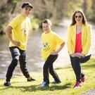 Erin Moore and Cristian McGreevy got first class fitness tips from AWARE ambassador and world champion boxer, Michael Conlan ahead of his upcoming fight at the Rio Olympics. Picture by Brian Morrison