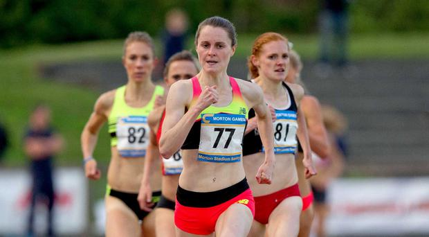 On the run: Ciara Mageean will take on the 1,500m at the Rio Olympics