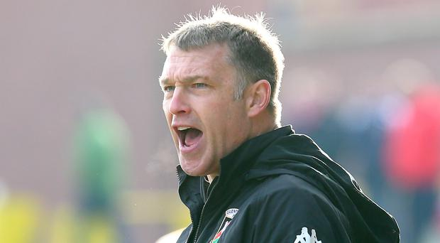 In with a shout: Alan Kernaghan believes Glentoran can beat Coleraine and seal a final place against Cliftonville