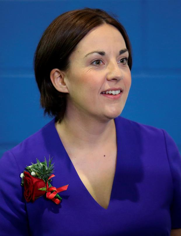 Scottish Labour leader Kezia Dugdale, who failed in her bid to win the Edinburgh Eastern constituency from the SNP, at the count at the Royal Highland Centre, Ingliston, Renfrewshire. Photo credit: Andrew Milligan/PA Wire