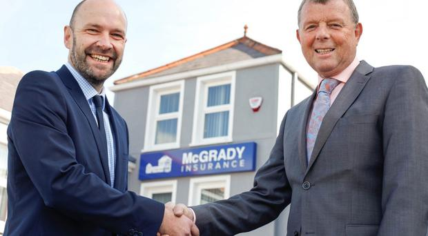 Maurice Boyd, Managing Director, AbbeyBondLovis and Fintan McGrady, Managing Director, McGrady Insurance
