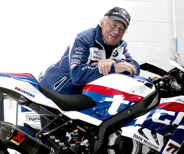 Tyco BMW boss Hector Neill at Kirkistown today.