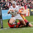 Glory bid: Ulster's Luke Marshall is in top form and gunning for a big win over Ospreys today to secure a Pro12 semi-final spot