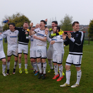 Rathfriland Rangers celebrate their Division 1A title win