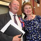 Jim Allister enjoys the moment with wife Ruth