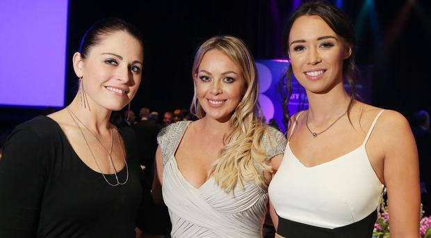 Debbie Young, Gemma Garrett and Julie Worthington pictured at the Northern Ireland Chamber of Commerce and Industry Champions Dinner at the newly extended Waterfront Hall in Belfast. It was the first external event to be held at the transformed venue and the largest event to be held by NI Chamber in its 233 year history with a sell-outbusiness audience of over 900 people.