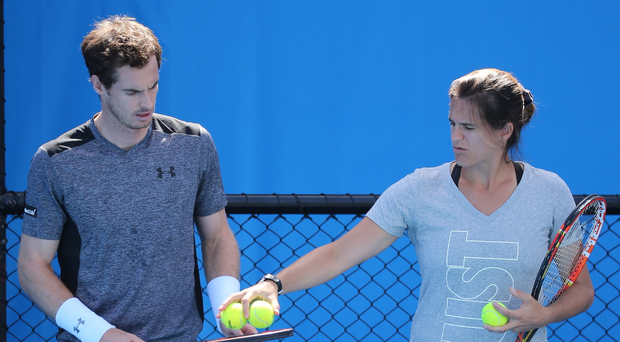 Going their separate ways: Andy Murray and coach Amelie Mauresmo have announced the end of their two-year working relationship