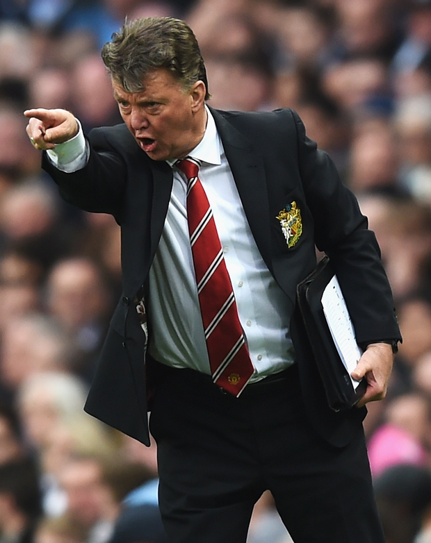 Man on a mission: Man United boss Louis van Gaal wants to end the season with a top-four place and FA Cup glory