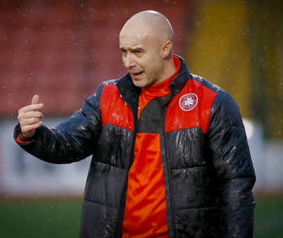 Dreaming big: Gerard Lyttle wants to lead Cliftonville into the Europa League