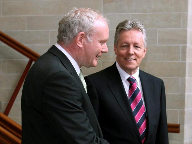 Deputy first minister Martin McGuinness and the then First Minister Peter Robinson praised the company during a visit in 2010