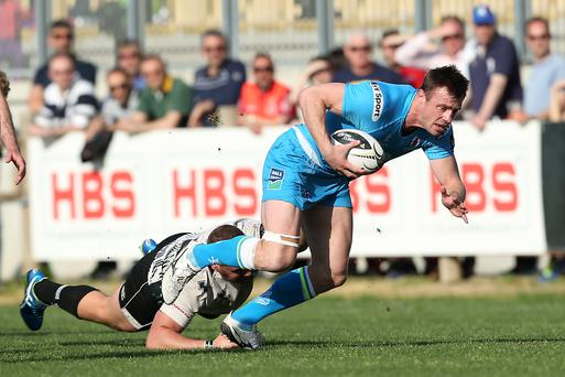 Setback: Ulster's Tommy Bowe, in action against Zebre in Parma last month, misses the rest of the campaign