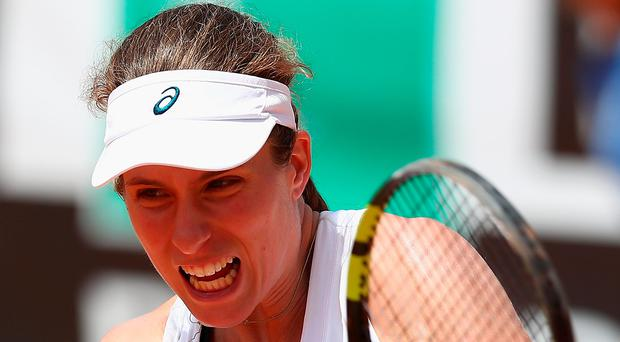 On form: Johanna Konta on way to victory over Johanna Larsson