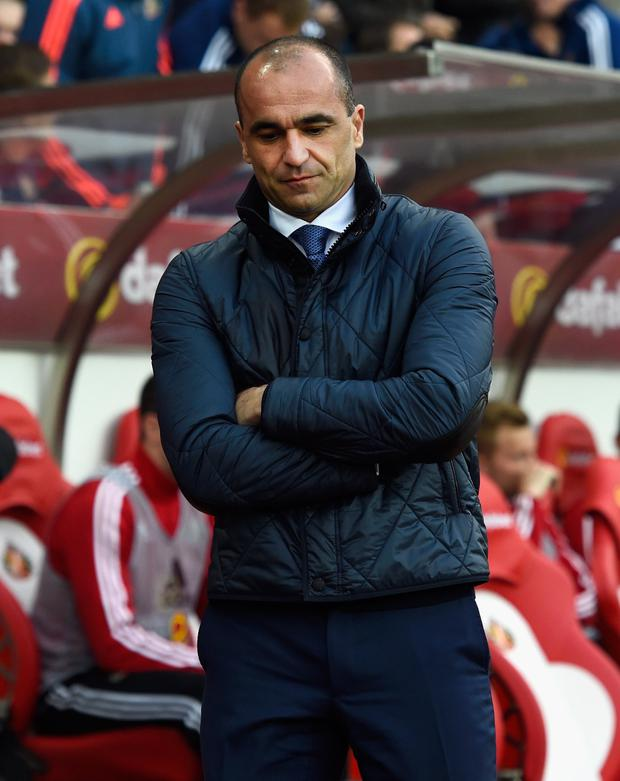You're out: Everton boss Roberto Martinez was sacked after a poor run of games