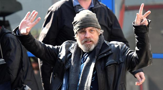 Mark Hamill (Luke Skywalker) pictured as Star Wars cast members arrive at Belfast International Airport on Friday Morning. They are due to film Star Wars Episode VIII at Malin Head in Co Donegal. Pic Colm Lenaghan/Pacemaker