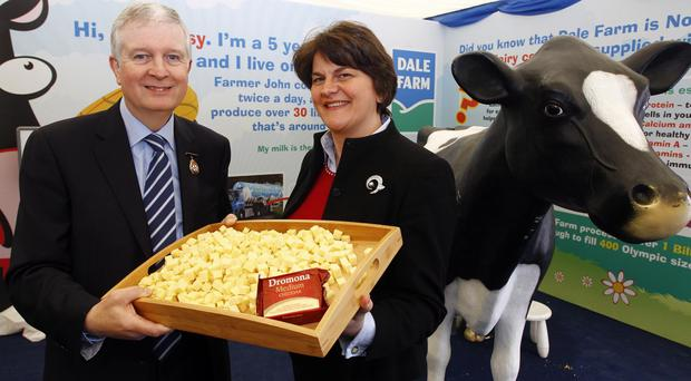 David Dobbin pictured with First Minister Arlene Foster