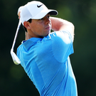 Back in contention: Rory McIlroy in action at Sawgrass yesterday